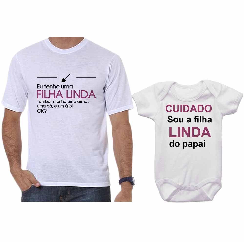 Camisetas Tal Pai Tal Filha Body Eu Tenho Uma Filha Linda