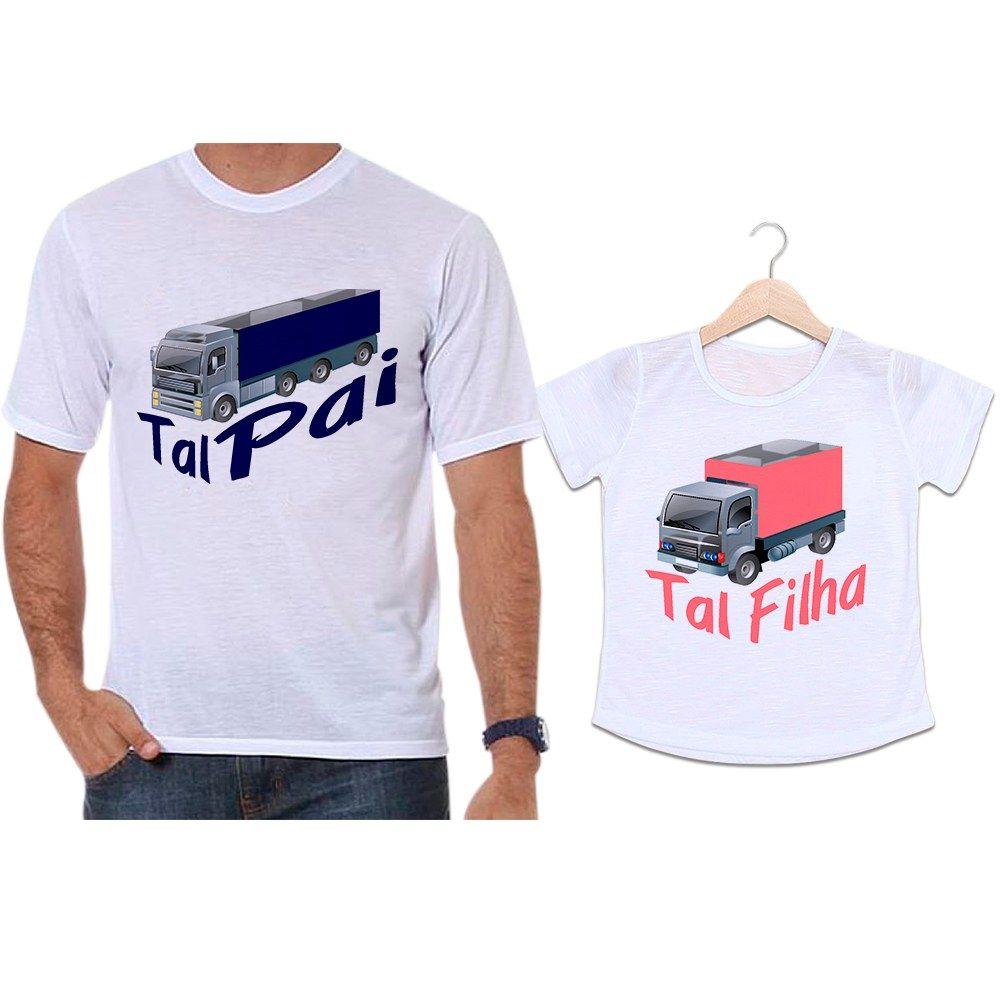 Camisetas Tal Pai Tal Filha Caminhão Camioneiro