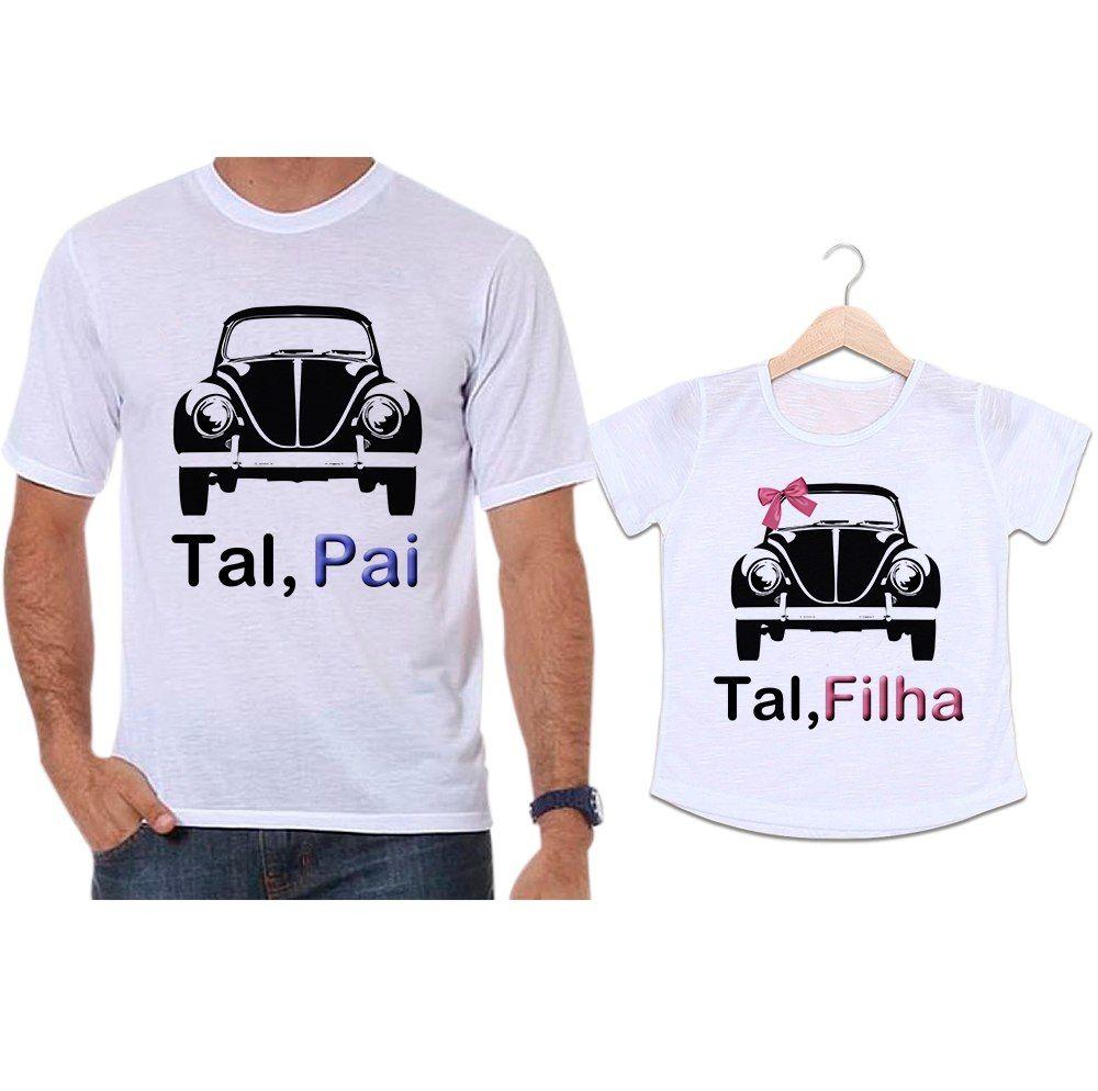 Camisetas Tal Pai Tal Filha Carro Fusca Preto