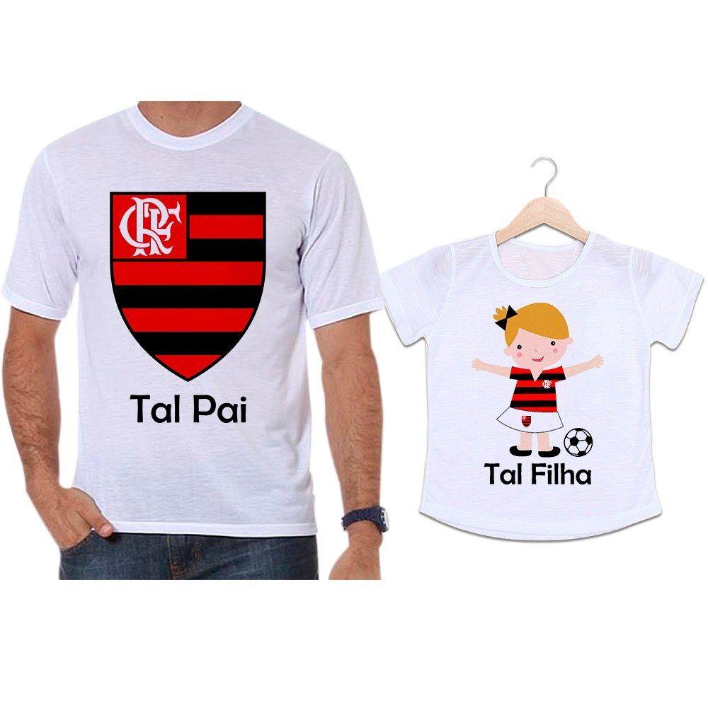 Camisetas Tal Pai Tal Filha Futebol Time Flamengo
