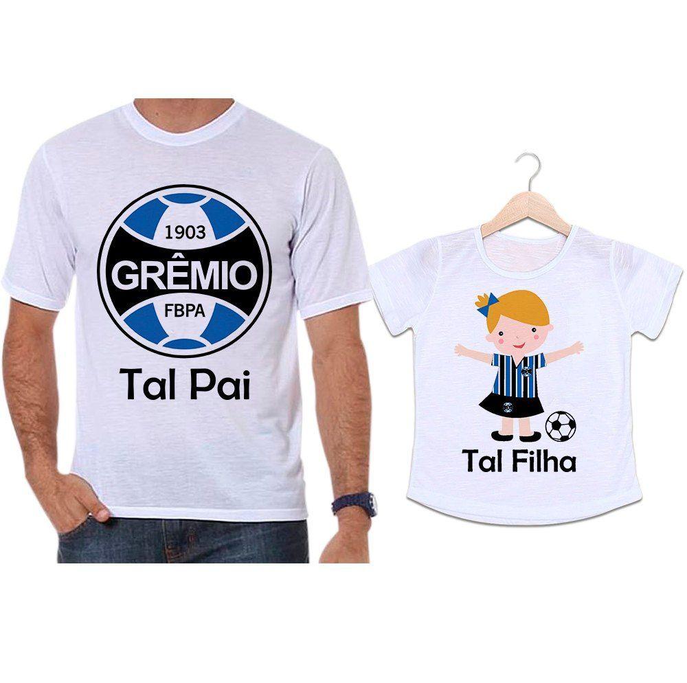 Camisetas Tal Pai Tal Filha Futebol Time Grêmio