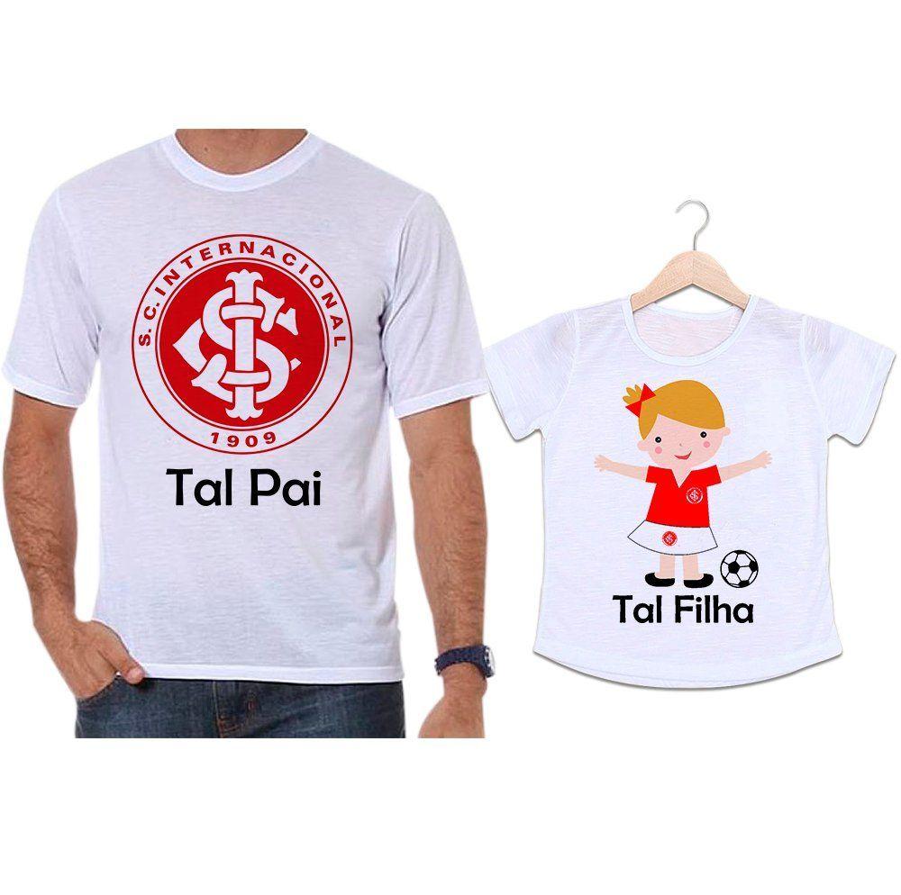 Camisetas Tal Pai Tal Filha Futebol Time Internacional