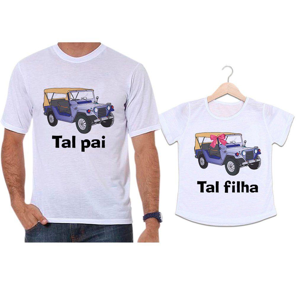 Camisetas Tal Pai Tal Filha Jeep Diversão
