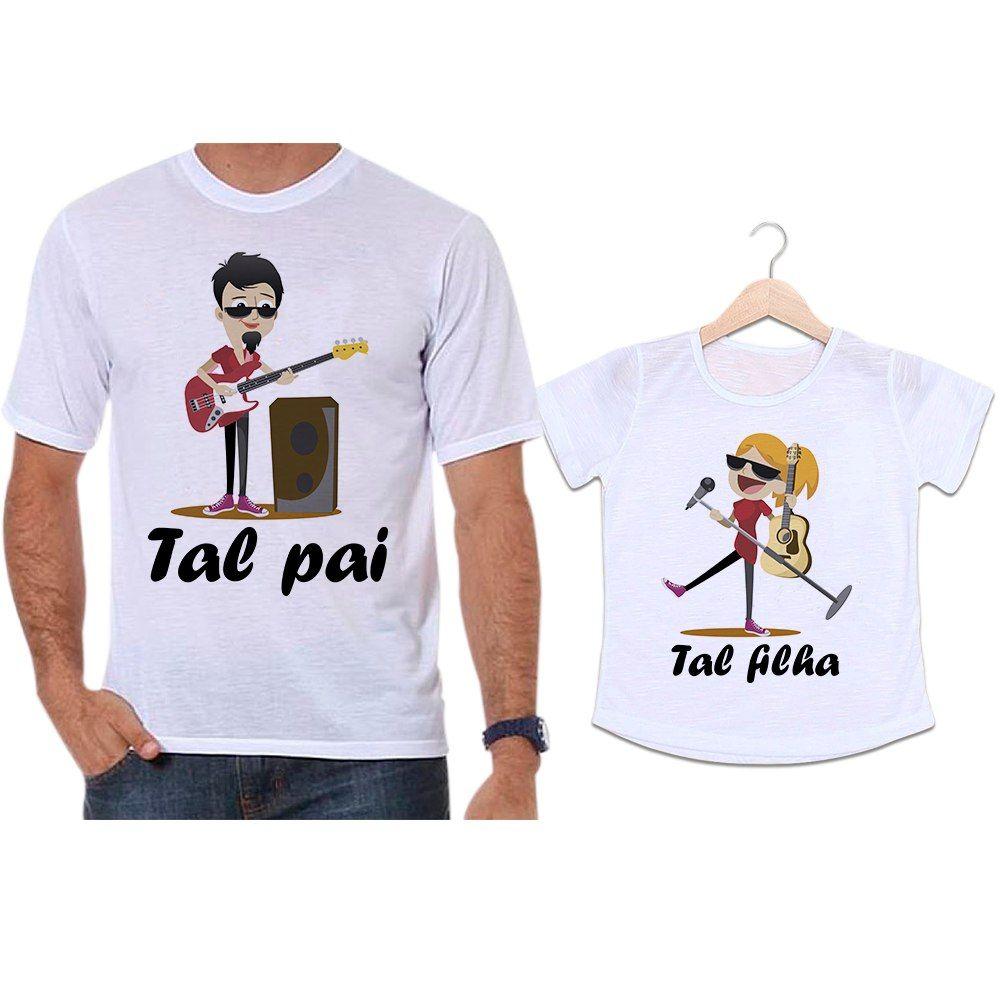 Camisetas Tal Pai Tal Filha Musicos Guitarra