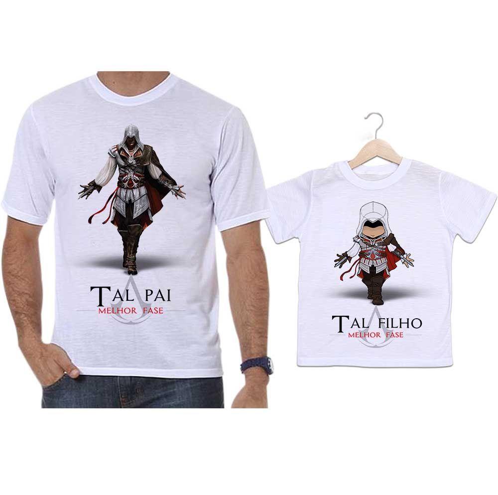 Camisetas Tal Pai Tal Filho Assassins Creed Game