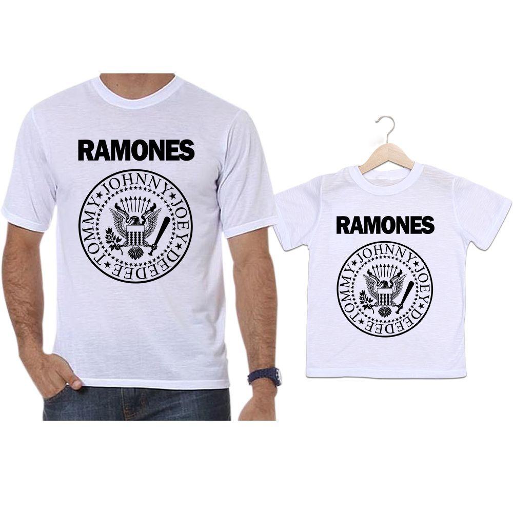 Camisetas Tal Pai Tal Filho Banda de Rock Ramones