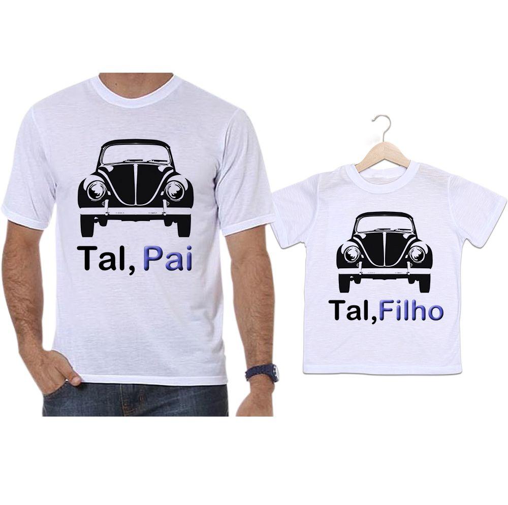 Camisetas Tal Pai Tal Filho Carros Fusca Preto