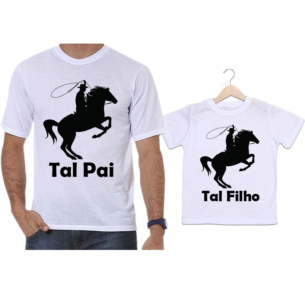Camisetas Tal Pai Tal Filho Cavalo Cowboy