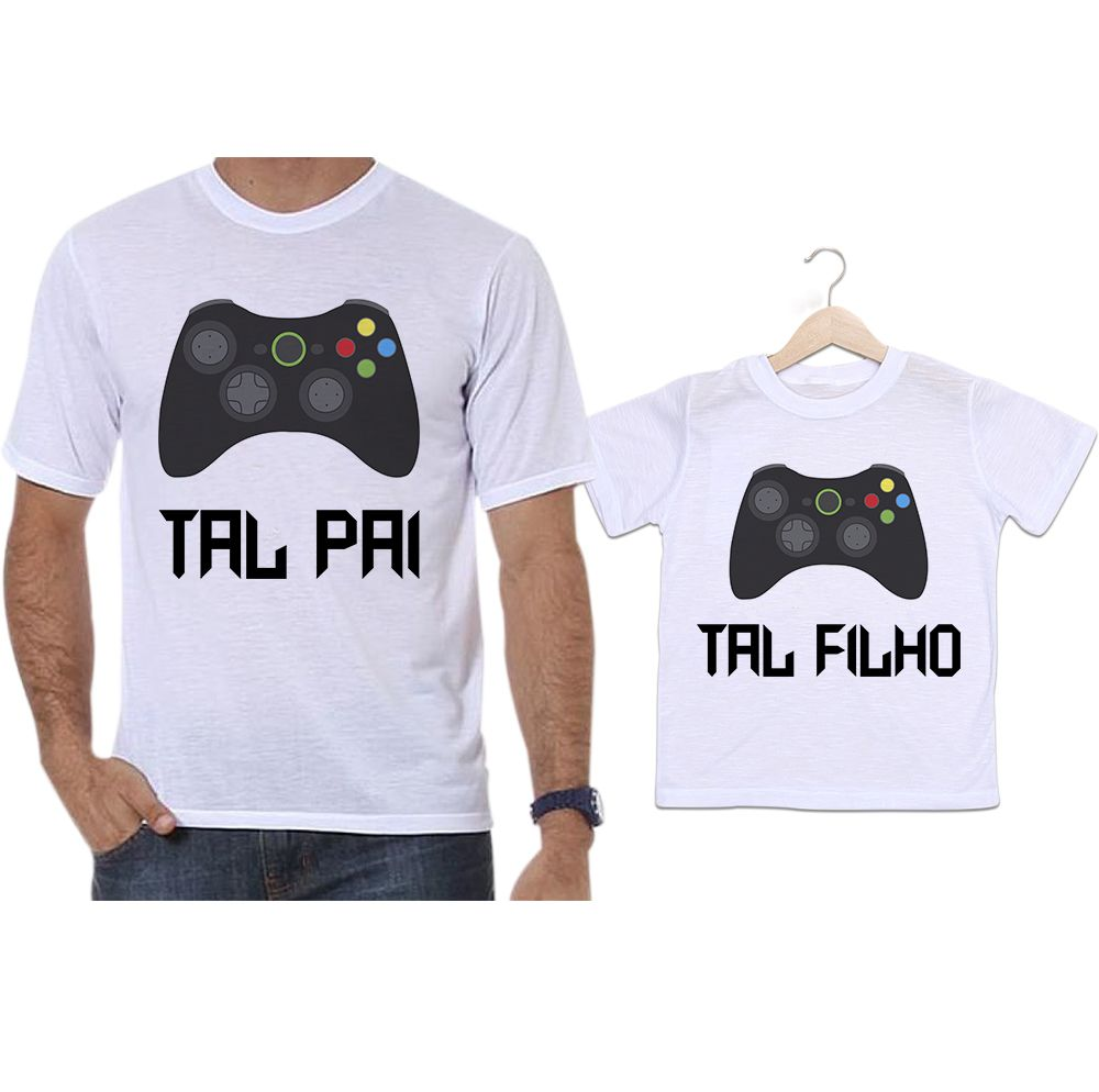 Camisetas Tal Pai Tal Filho Controle Vídeo Game X Box