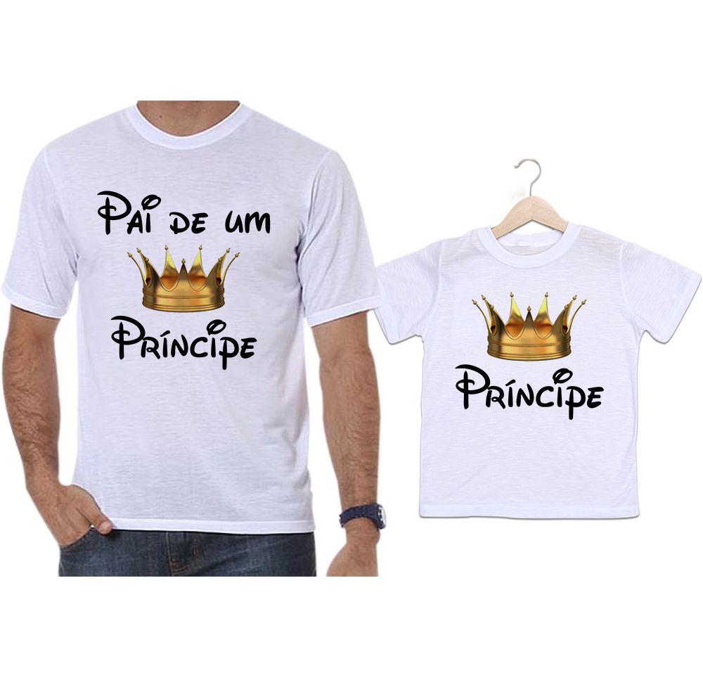 Camisetas Tal Pai Tal Filho Coroa Dourada Pai de Um Príncipe