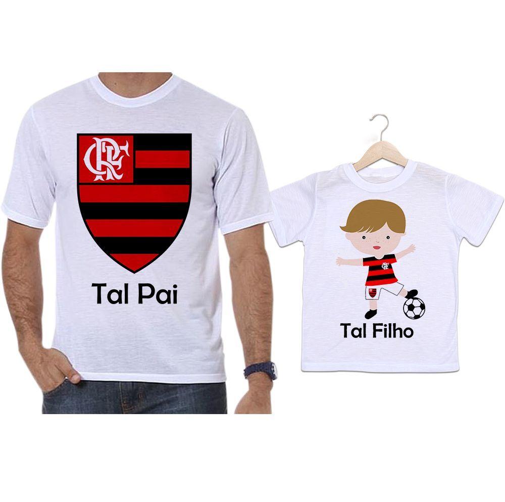 Camisetas Tal Pai Tal Filho Futebol Flamengo