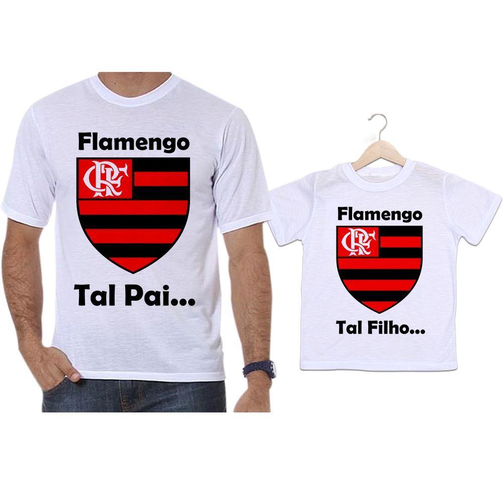 Camisetas Tal Pai Tal Filho Futebol Time Flamengo