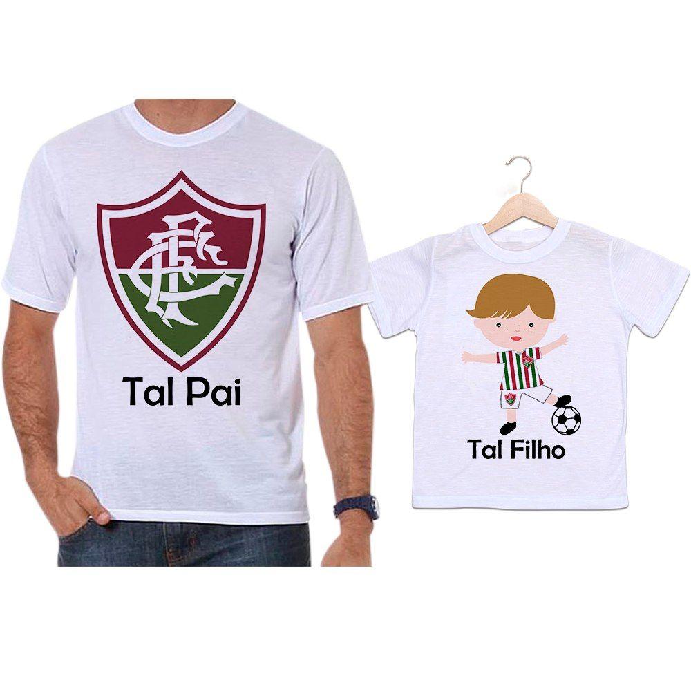 Camisetas Tal Pai Tal Filho Futebol Time Fluminense - Empório Camiseteria a479da17cb3d2