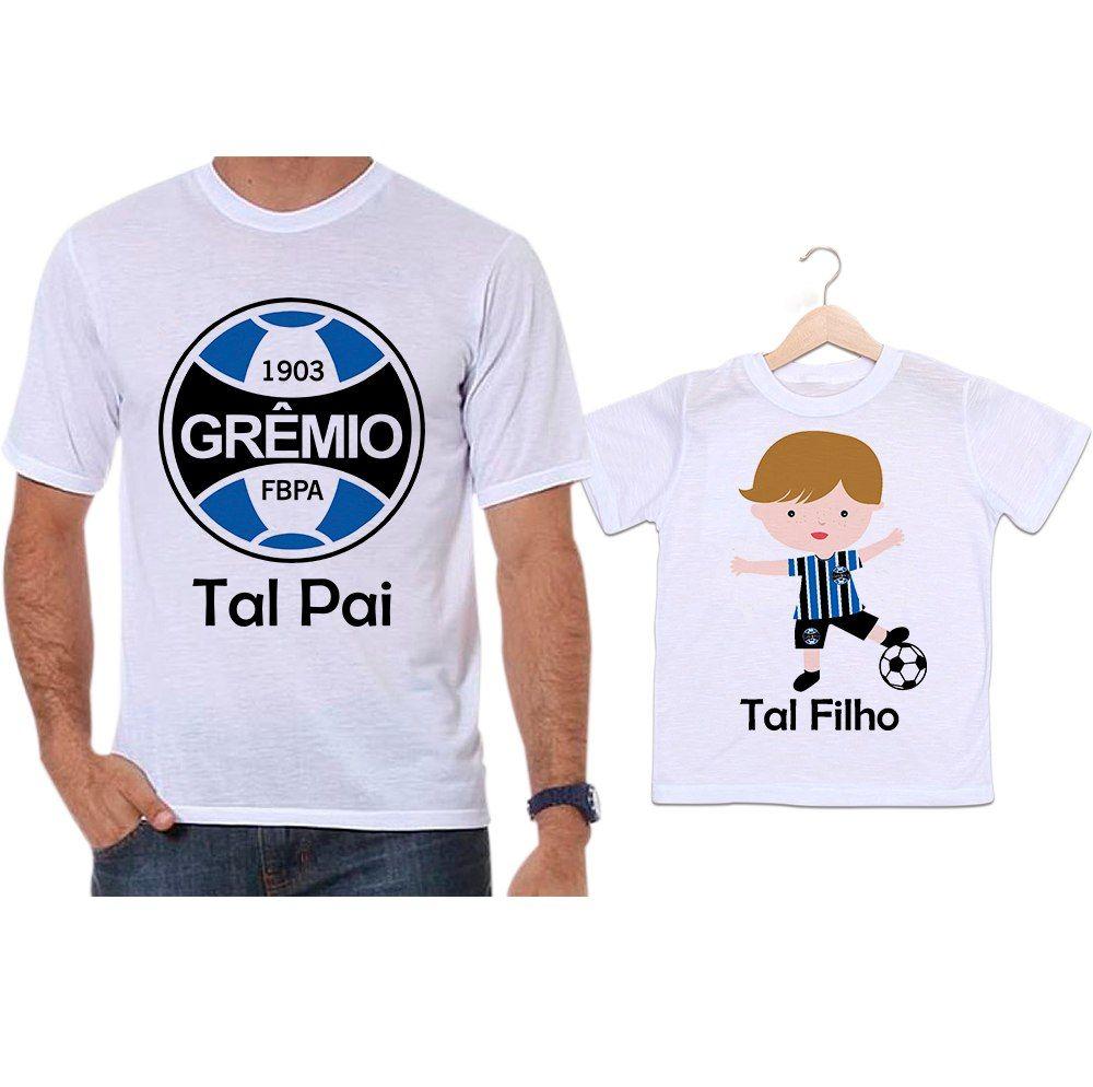 Camisetas Tal Pai Tal Filho Futebol Time Grêmio