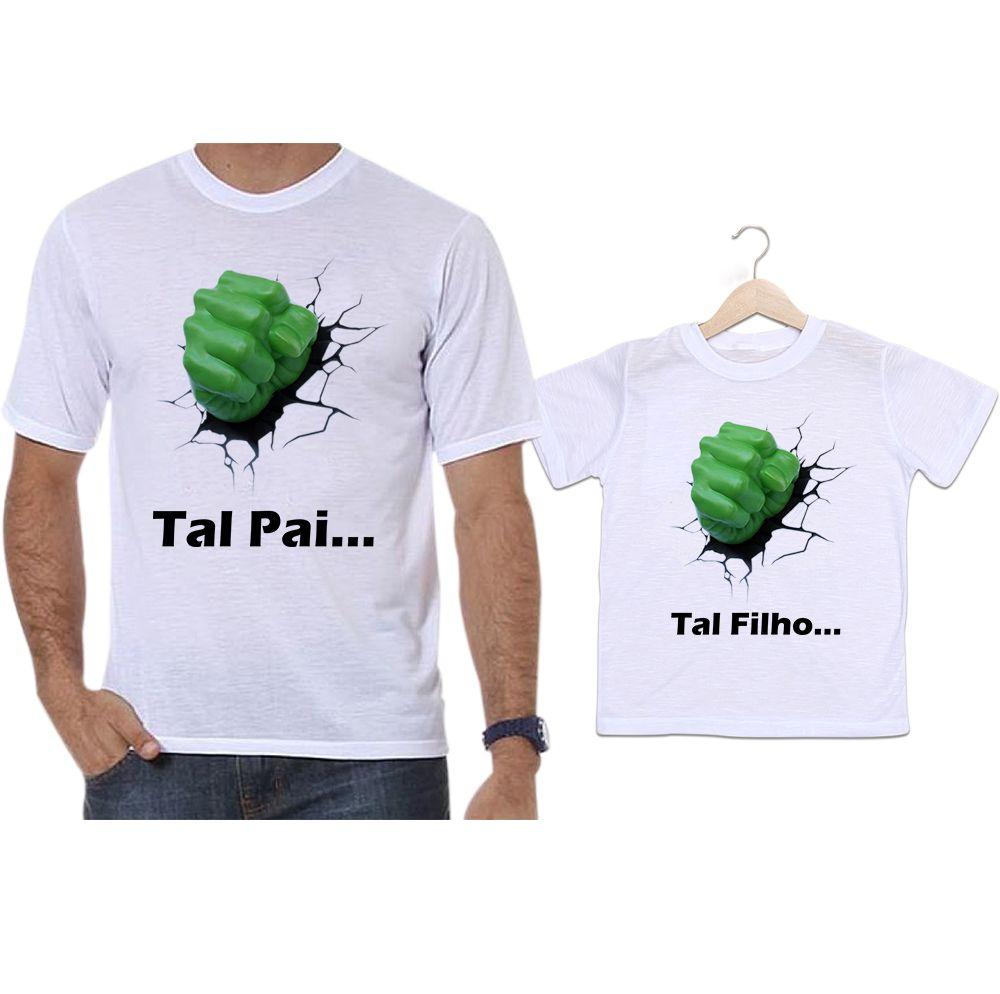 Camisetas Tal Pai Tal Filho Hulk Os Vingadores