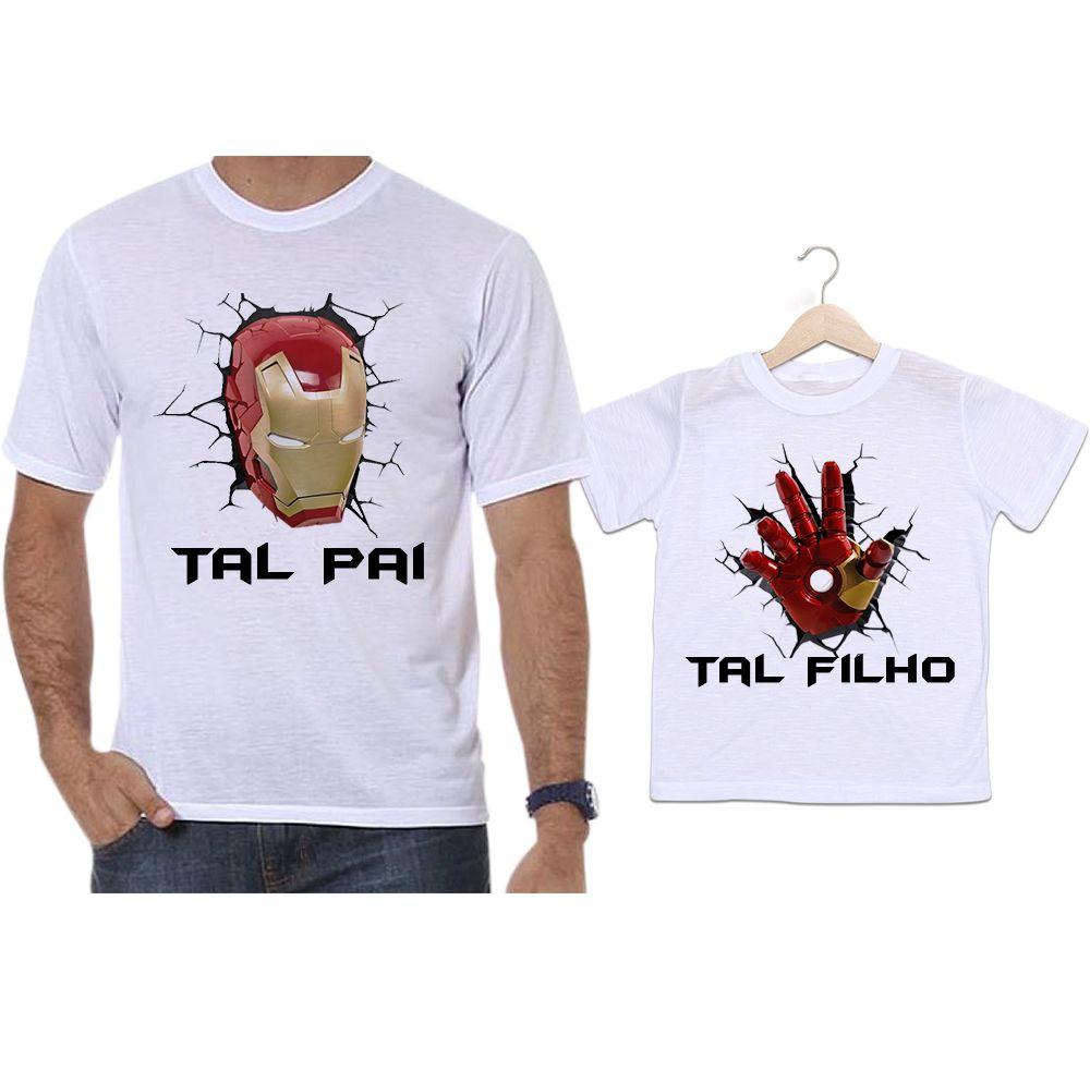 Camisetas Tal Pai Tal Filho Iron Man Homem de Ferro