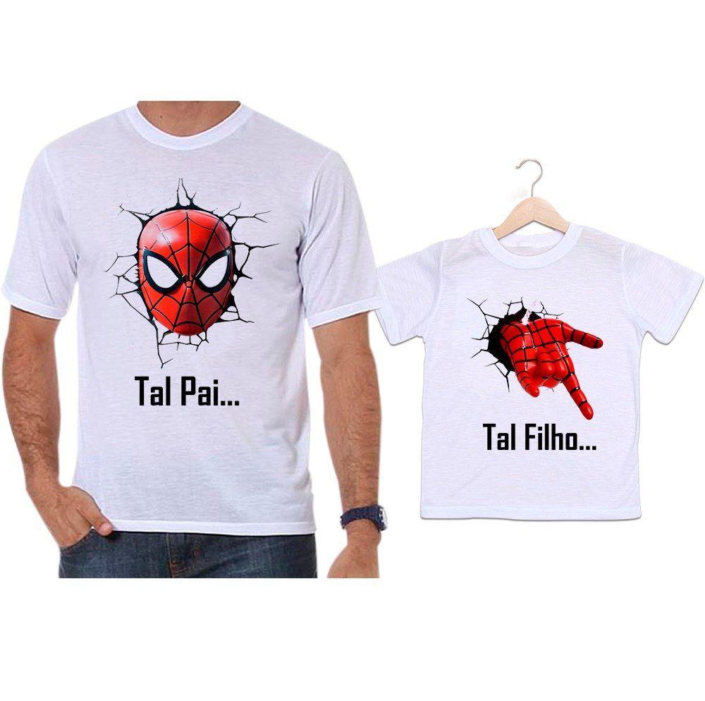 Camisetas Tal Pai Tal Filho Spider Man Homem Aranha