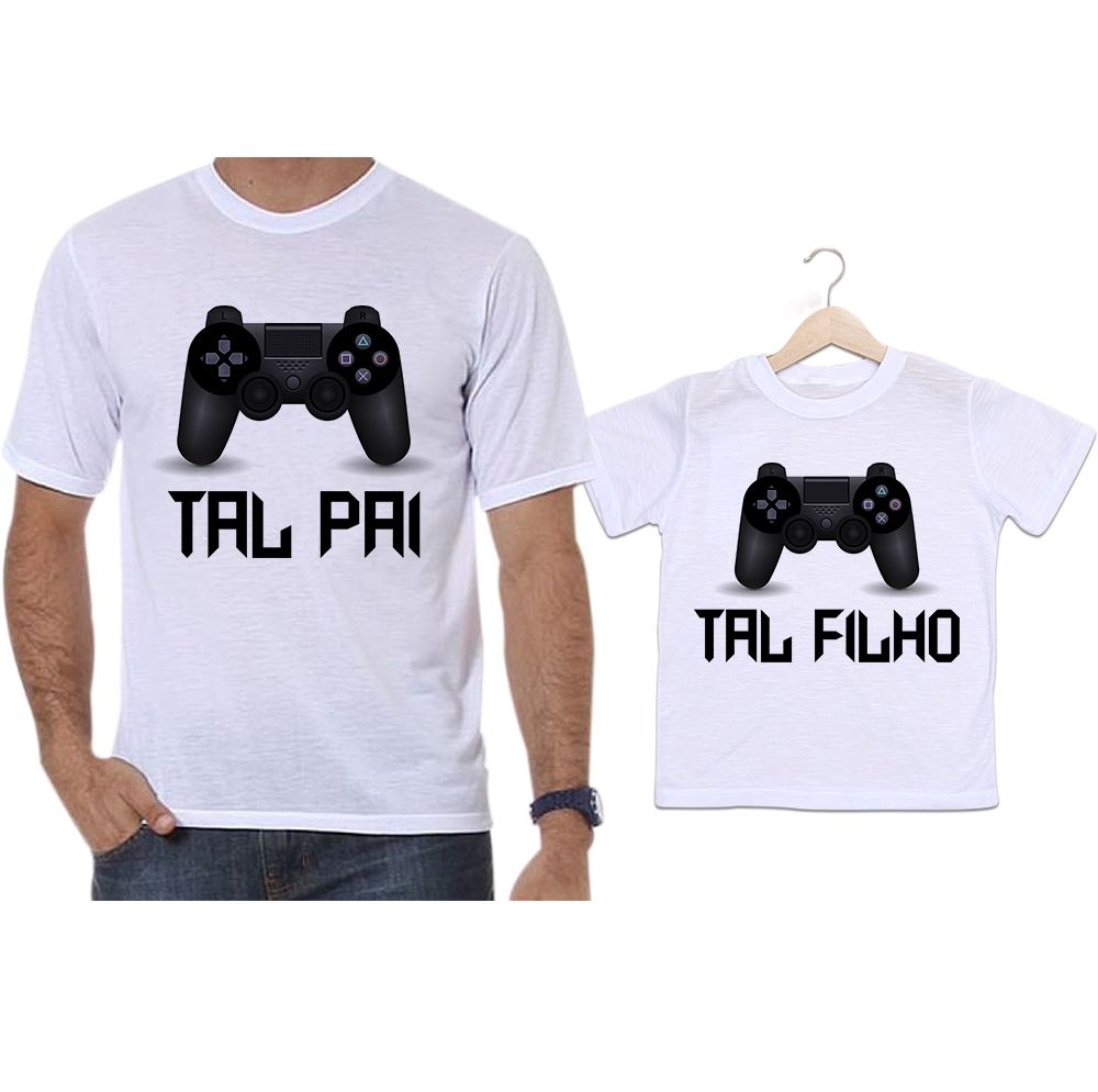Camisetas Tal Pai Tal Filho Vídeo Game Playstation PS