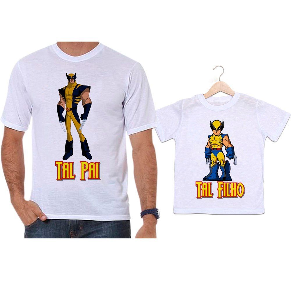 Camisetas Tal Pai Tal Filho Wolverine