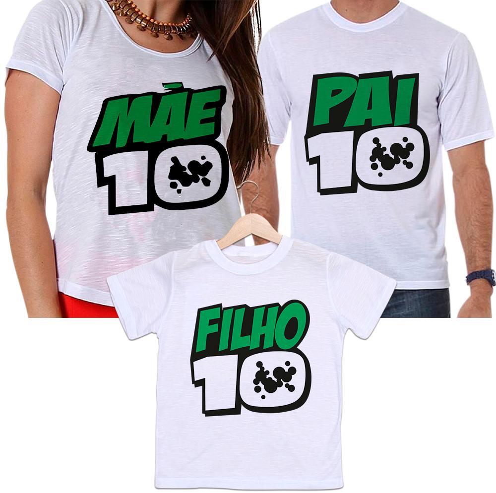 Camisetas Tal Pai, Tal Mãe e Tal Filho Ben10 Pai10 Mãe10 Filho10