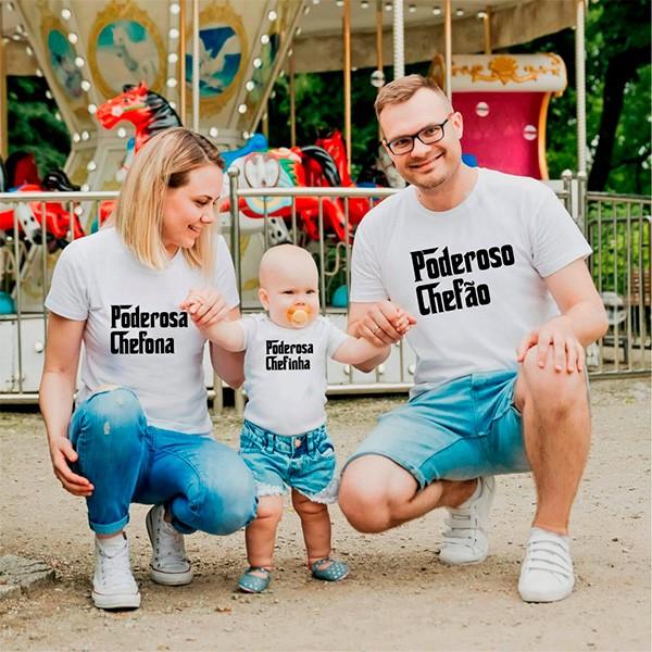 Camisetas Tal Pai Tal Mãe Tal Filha Poderosa Chefinha