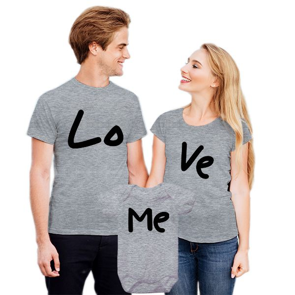Camisetas Tal Pai Tal Mãe Tal Filho Love Me CA0829