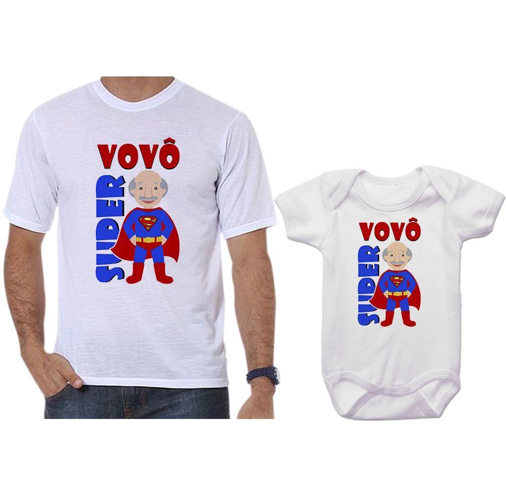 Camisetas Tal Vovô Tal Neto Body Super Vovô