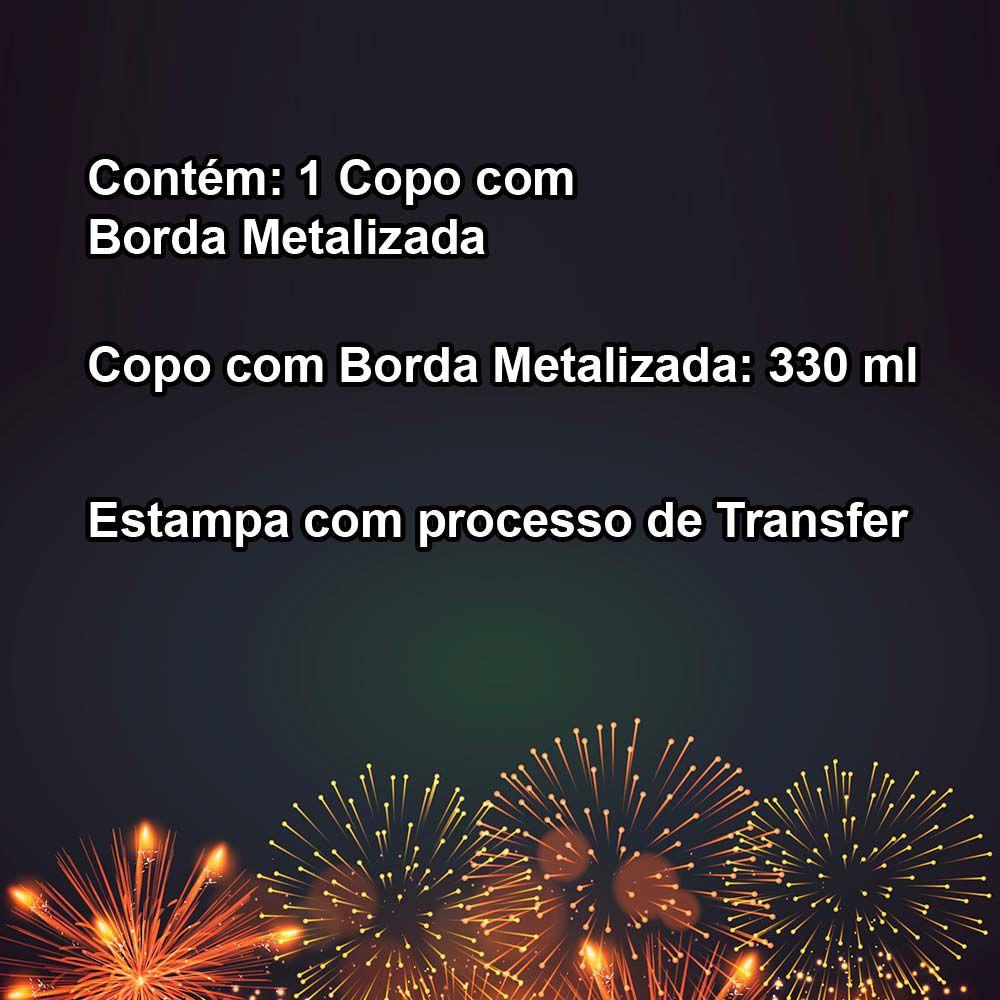 Copo Com Borda Metalizada Ano Novo CO0030