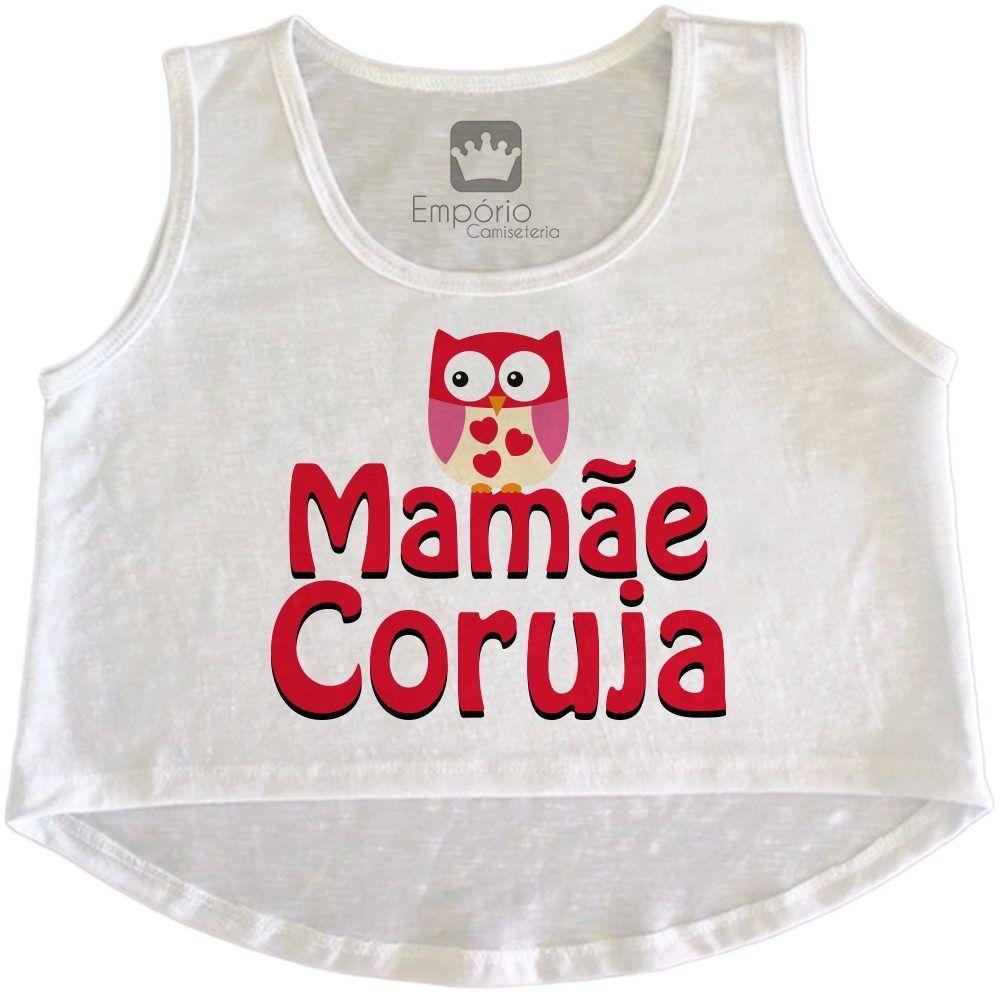 Cropped Gestante Mamãe Coruja