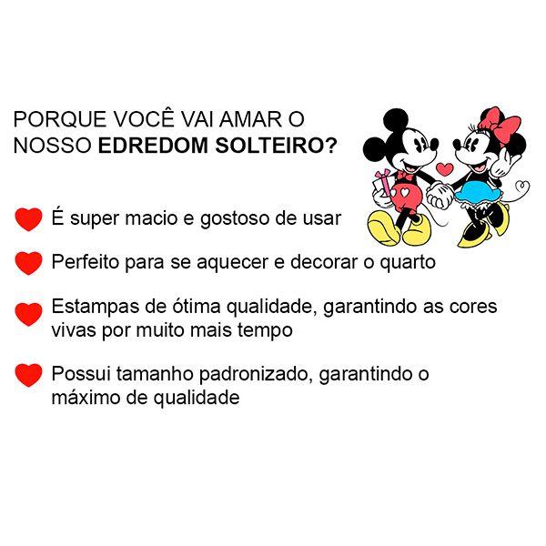 Edredom Solteiro Dupla Face Amigos do Mickey - 1 Peça