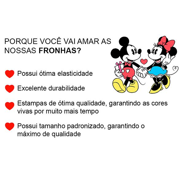 Fronha Avulsa Mickey e Minnie Love You Black