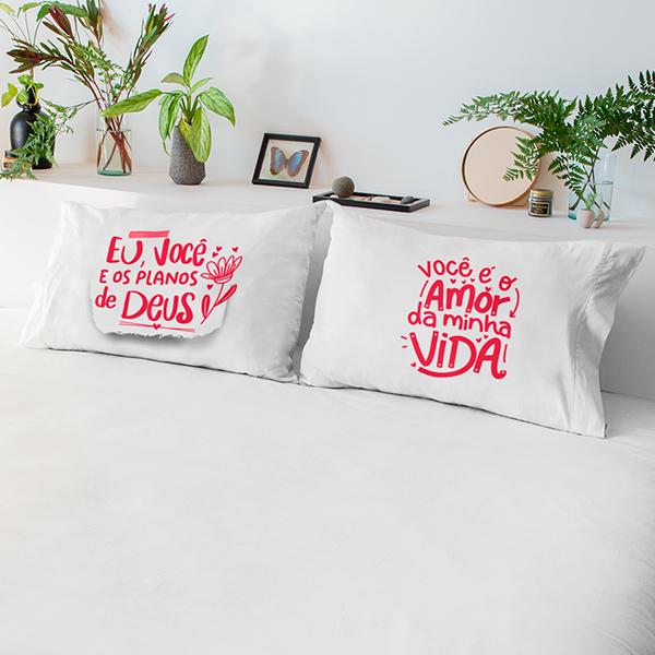 Fronhas Casal Amor da Minha Vida - CA1328