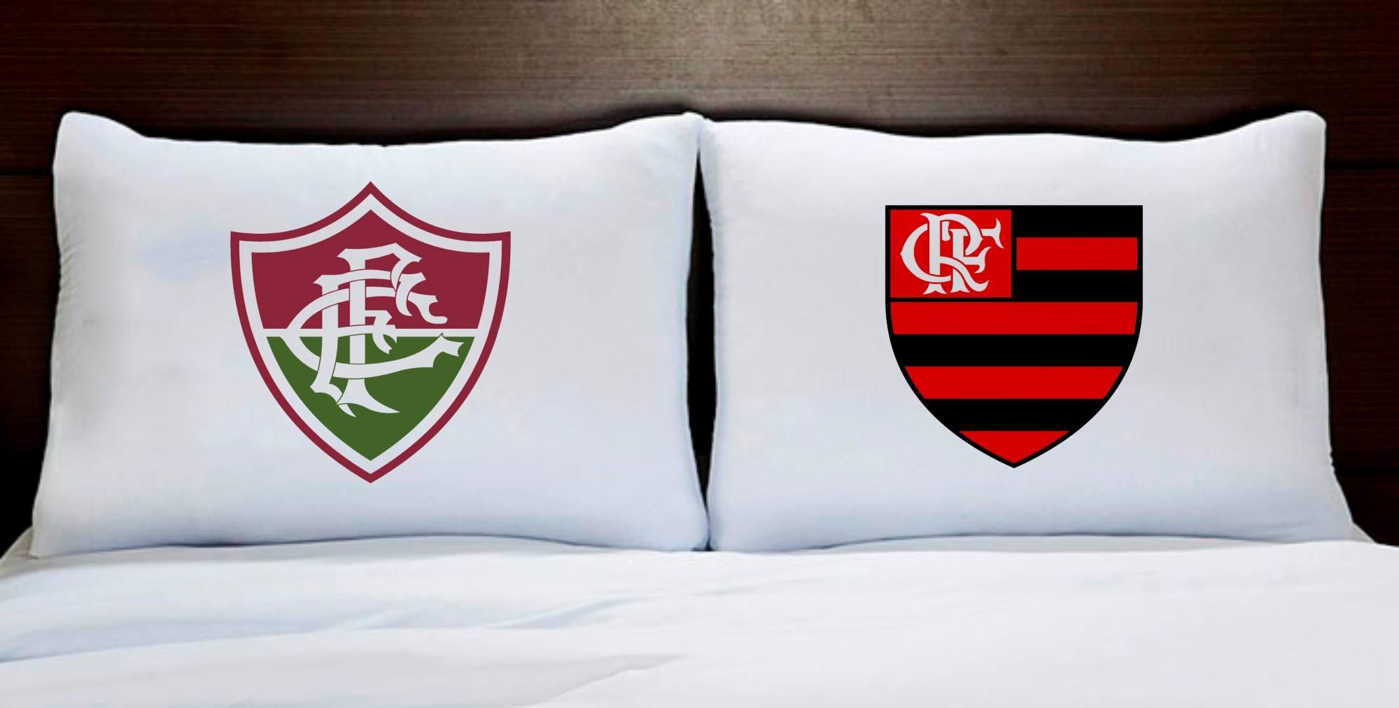 824cba2aa6 Fronhas Casal Fluminense e Flamengo Times de Futebol - Empório Camiseteria