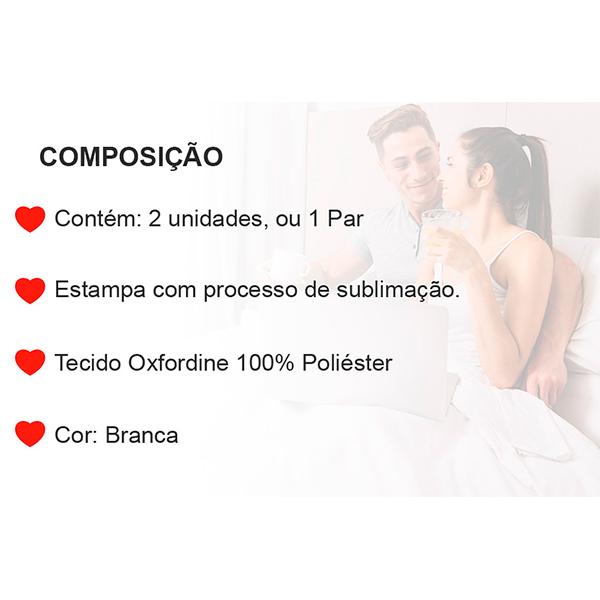 Fronhas Casal Juntos até o Fim de Nossas Vidas - CA1358