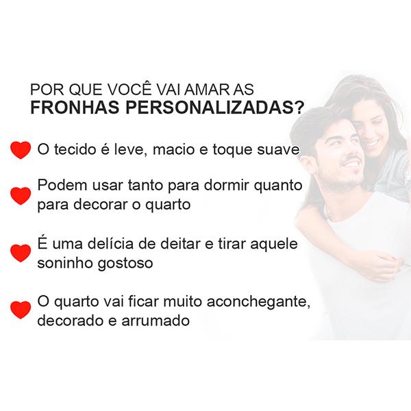 Fronhas Casal Juntos Desde - CA1333