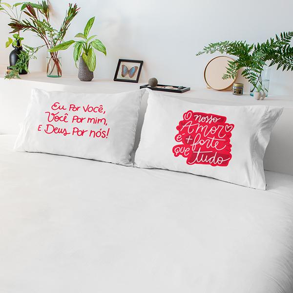 Fronhas Casal Nosso Amor é Mais Forte que Tudo - CA1341