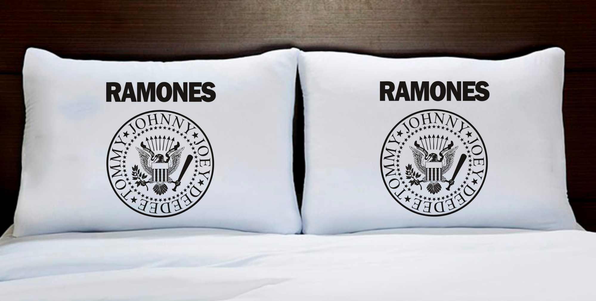 Fronhas Casal Personalizadas Banda de Rock Ramones