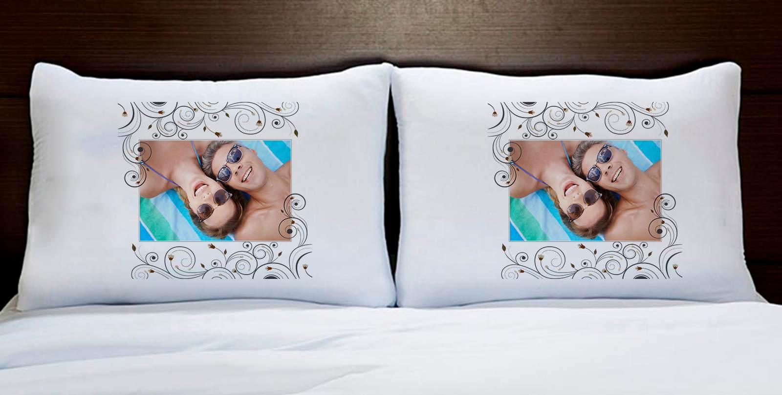 Fronhas Casal Personalizadas Com Foto
