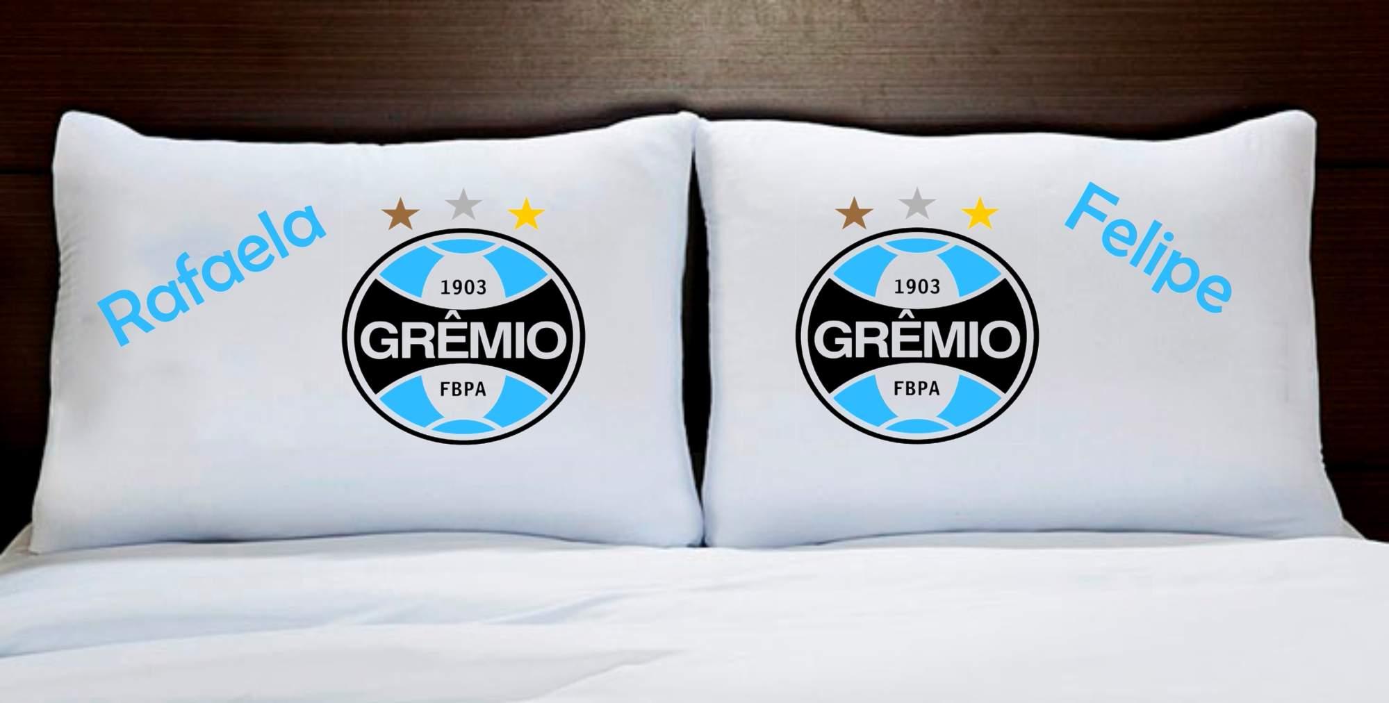 Fronhas Casal Personalizadas Grêmio Times de Futebol - Empório Camiseteria 50733c0ab3621