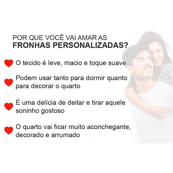 Fronhas Casal Personalizadas Letras Iniciais do Casal | Tema Casamento Noivado