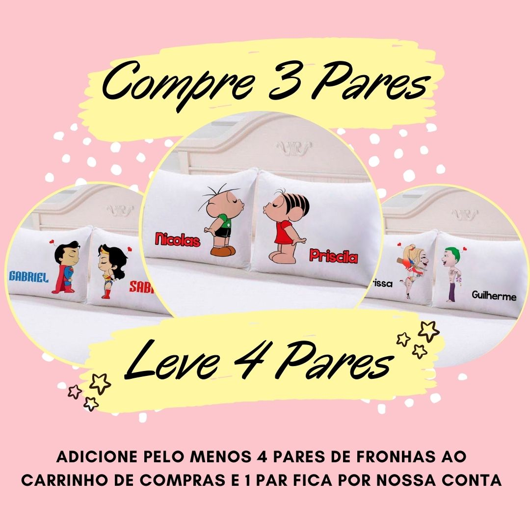 Fronhas Casal Te Amo - CA1337