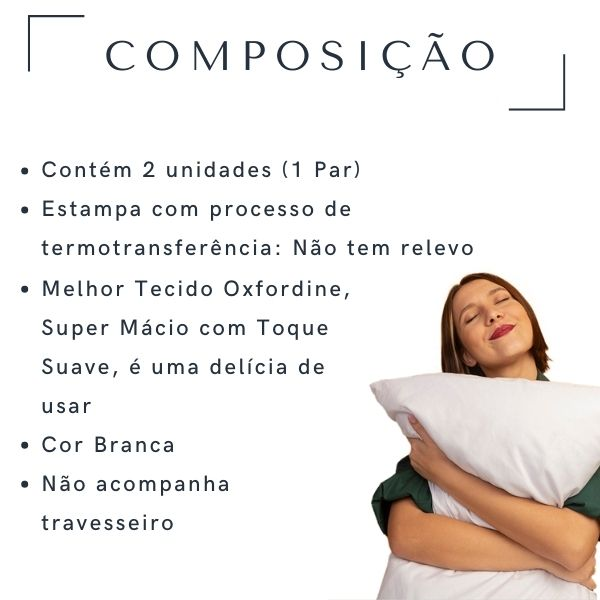 Fronhas Casal Te Amo - CA1360
