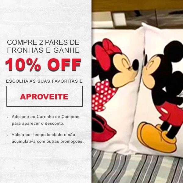 Fronhas Mickey e Minnie Coração Personalizadas