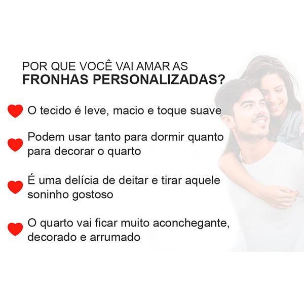 Fronhas Personalizadas Juntos Para Sempre FR1097