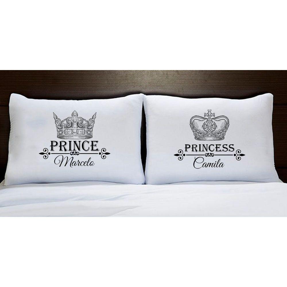 Fronhas Prince e Princess Personalizadas