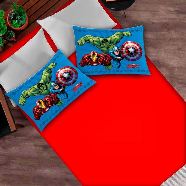 Jogo de Cama Casal Os Vingadores 3 Peças FR1053
