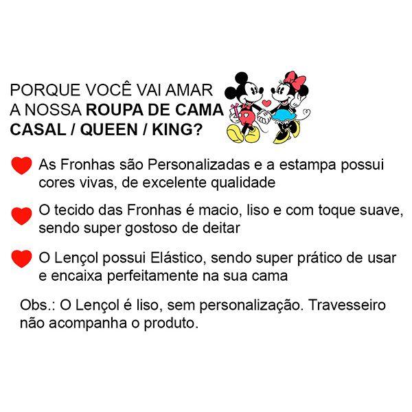 Jogo de Cama Casal Personalizado Coroas 3 Peças FR1003