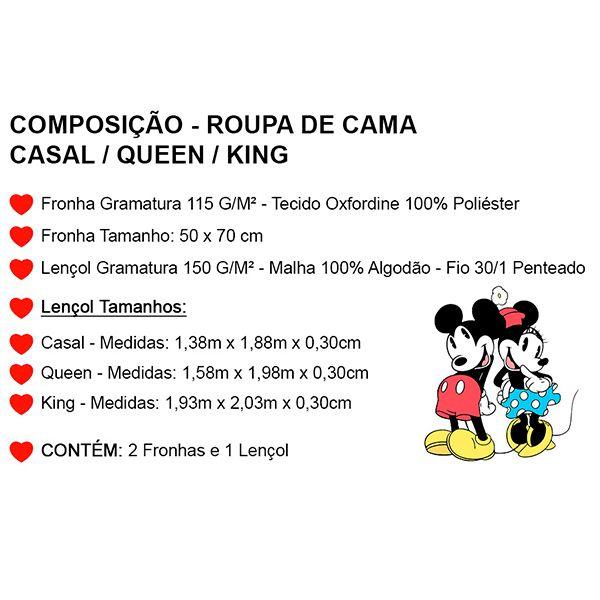 Jogo de Cama Casal Personalizado Mônica e Cebolinha 3 Peças FR1014