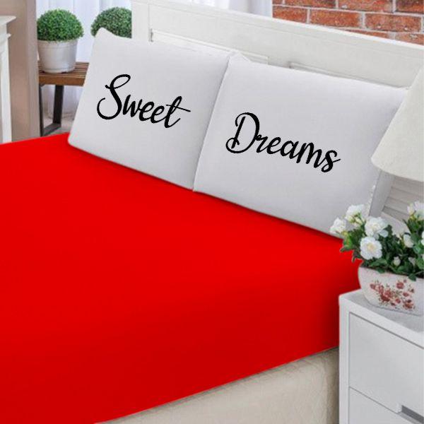 Jogo de Cama Casal Personalizado Sweet Dreams 3 Peças FR1045