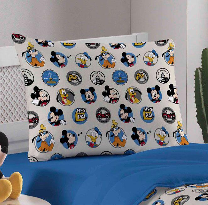 Jogo de Cama Solteiro Amigos do Mickey - 2 Peças